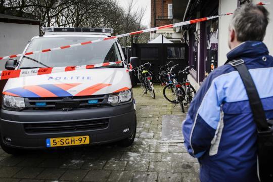 Die Polizei hat den Bereich, in dem der abgetrennte Kopf gefunden wurde, abgesperrt